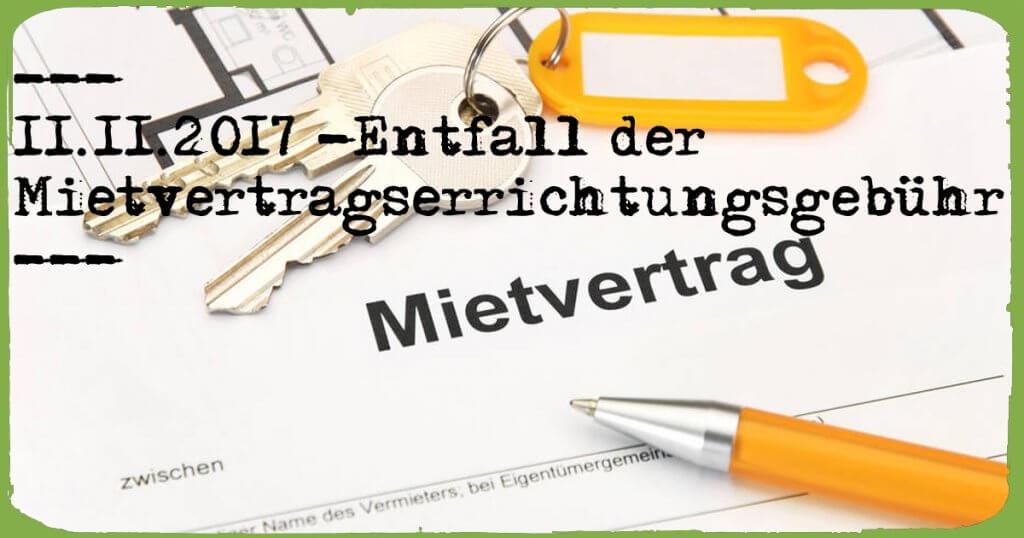 Entfall Mietvertragserrichtungsgebühr   KonradKolbe.com