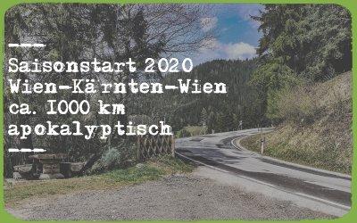 Saisonstart 2020 – kleine apokalyptische Bikerunde